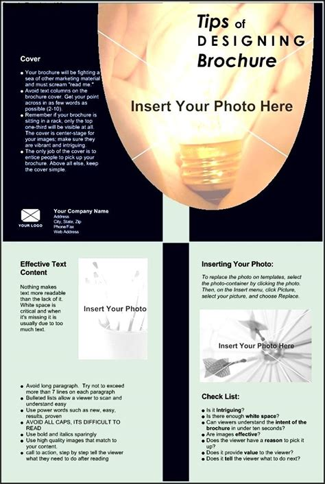 bi fold flyer template bi fold brochure template sle templates sle