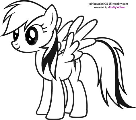 Coloring Pages My Pony Rainbow Dash rainbow dash coloring pages team colors