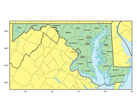 maryland map detailed maps of maryland state collection of detailed maps of