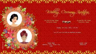 indian wedding invitation cards templates wedding invitations indian wedding invitations ideas