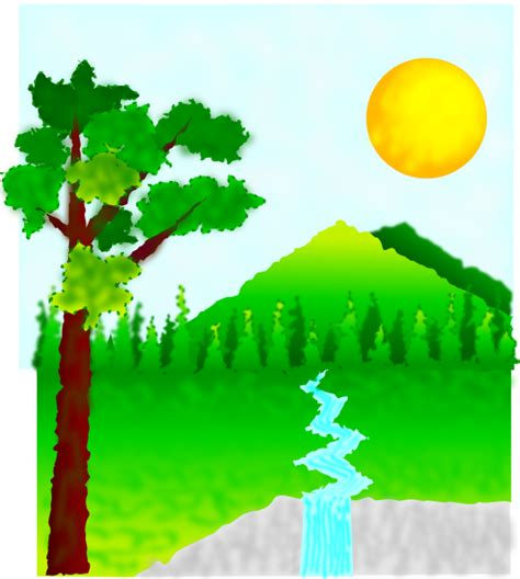 nature clipart landscape clip at clker vector clip