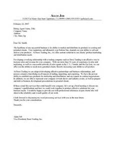 Business Cover Letter Sle by Business Letter Resume Sales Pitch