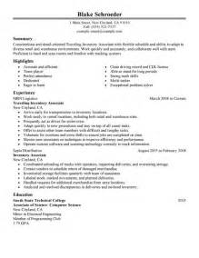 unforgettable traveling inventory associate resume