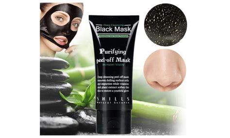 Shills Black Mask Cleansing 100 Original 1 shills cleansing black mask purifying peel clean acne groupon