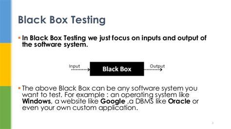 black box testing black box software testing