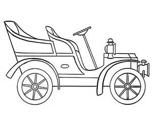 Model T Car  Outline Coloring Pages sketch template