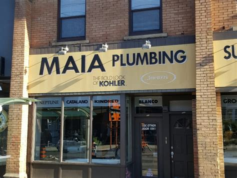maia plumbing supplies toronto on 1041 college st