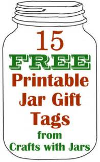 crafts with jars 15 free printable jar gift tags