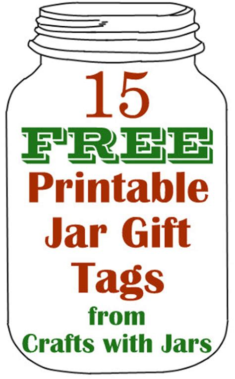 Jar Tag Template crafts with jars 15 free printable jar gift tags