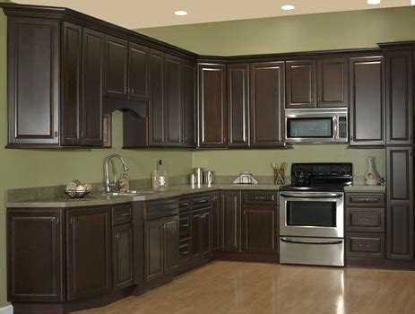 dark chocolate kitchen cabinet depot