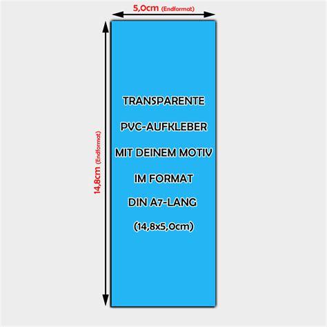 Aufkleber Transparente Folie by Transparente Pvc Folien Aufkleber Din A7 Lang Bestellen
