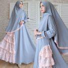 Gamis Julie Dress Maxi Rubiah Syari Set Wanita 1 gamis modern cantik 373 crepe baju muslim umbrella