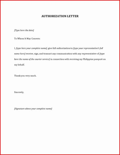 authorization letter format to receive documents authorization letter sle for collecting documents fresh