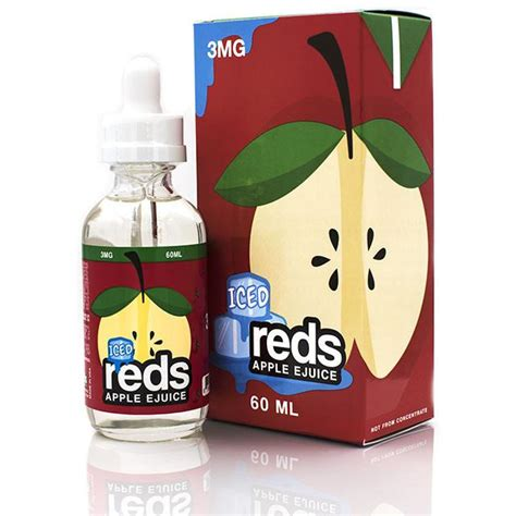 Usa Iced Reds Apple Ejuice By Vape 7 Daze 60ml 3mg Liquid reds apple iced e juice coupon code all american vape