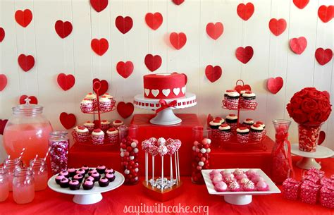 Decorations For Welcome Home Baby by Valentine S Day Dessert Table Say It With Cake