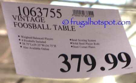 vintage foosball table costco costco vintage foosball table 379 99 frugal hotspot