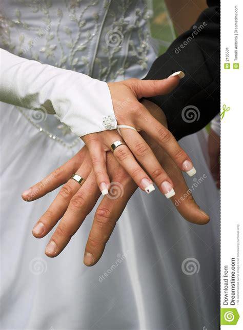 wedding rings  fingers stock image image