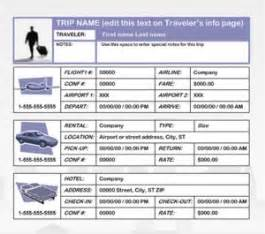 business travel plan template free printables word excel