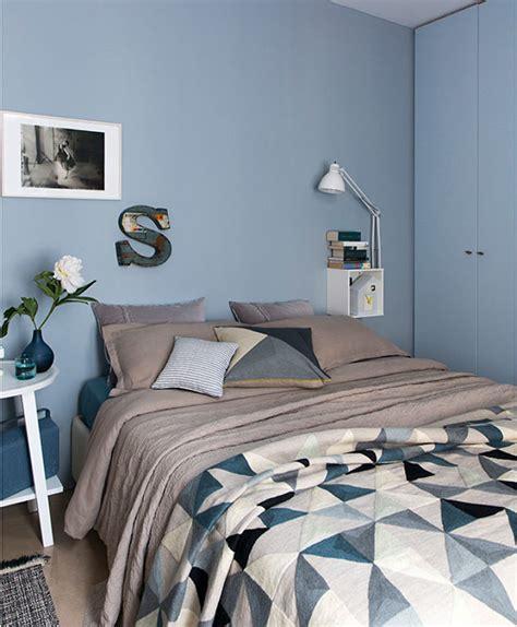 pareti azzurre da letto foto da letto con pareti azzurre di rossella