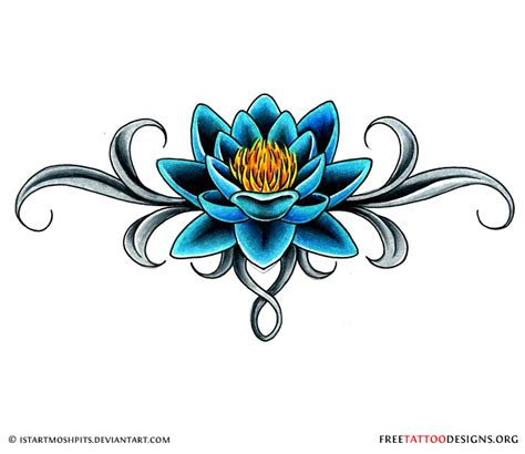 blue lily tattoo design 90 lotus flower tattoos