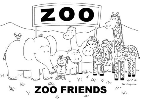 Outlines Zoo Station Remix opulent design zoo outline colorful and black white for coloring book vector picture images