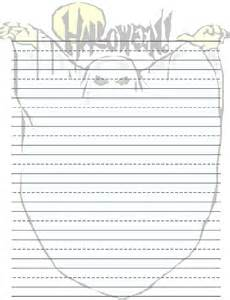 Halloween Writing Paper Template 5 Best Images Of Printable Halloween Writing Templates