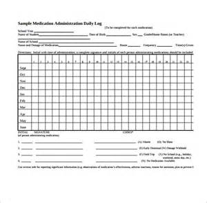 Medication Log Template by Daily Log Template 09 Free Word Excel Pdf Documents
