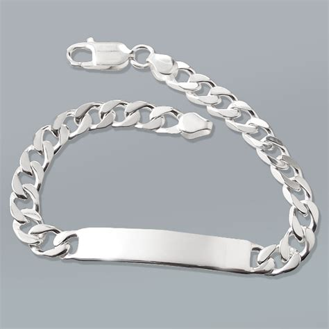 7 5mm wide 7 5 inches id curb hallmarked sterling
