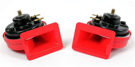 Auto Fanfare by Signalhorn Rot Dual Ton Auto Fanfare Hupe 12v 110db Ebay