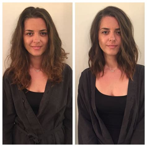 wavy long bob before and after pic 25 best ideas about textured long bob on pinterest wavy