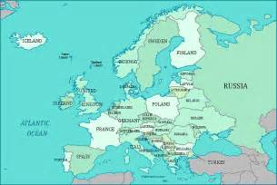 Labeled Europe Map by Europe Map Countries Labeled Images
