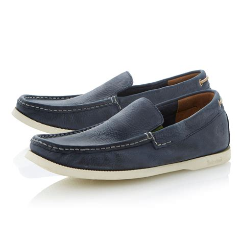 timberland loafer shoes in blue for lyst