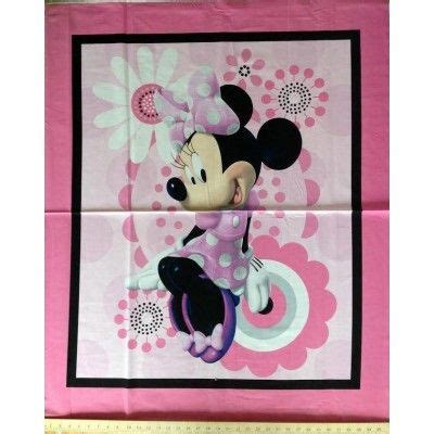 Minnie Mouse Quilt Panel Minnie Mouse Pink Fabric Panel Fabric Panels