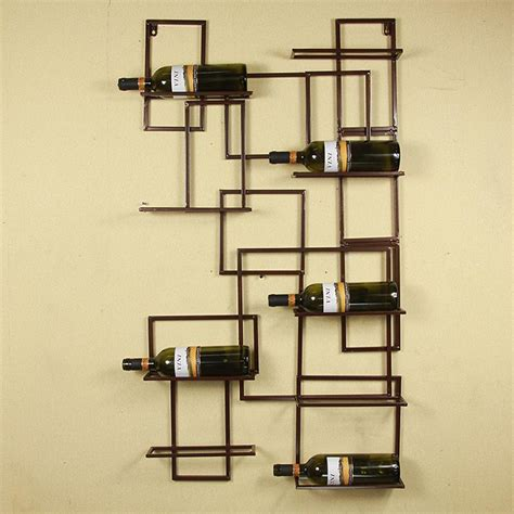 Metal Wall Wine Rack Bottle Holder by 10 Bottle Wall Mounted Metal Wine Holders Iron Wall Wine