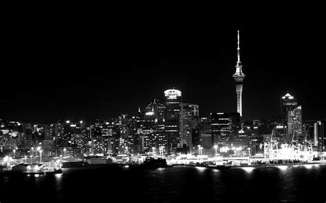 black and white wallpaper nz wallpaper night city skyscrapers auckland new zealand