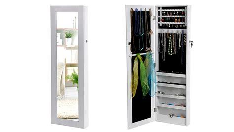 armadio specchio portagioie songmics armadio specchio portagioie gioielli da parete