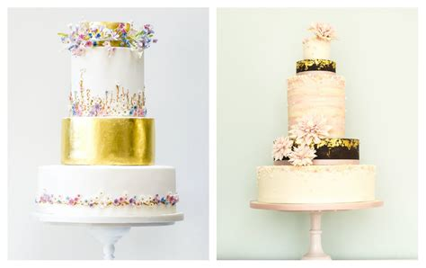 gold themed cake ideas for a gold wedding theme