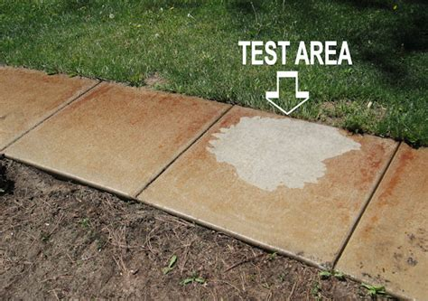 How To Remove Stains From Concrete Patio by Customer Removes Rust From Sprinkler Stain