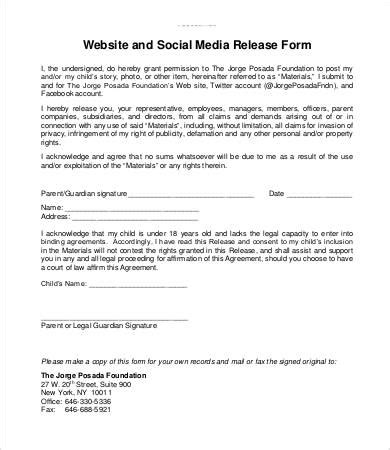 29 images of social media release form template leseriail com