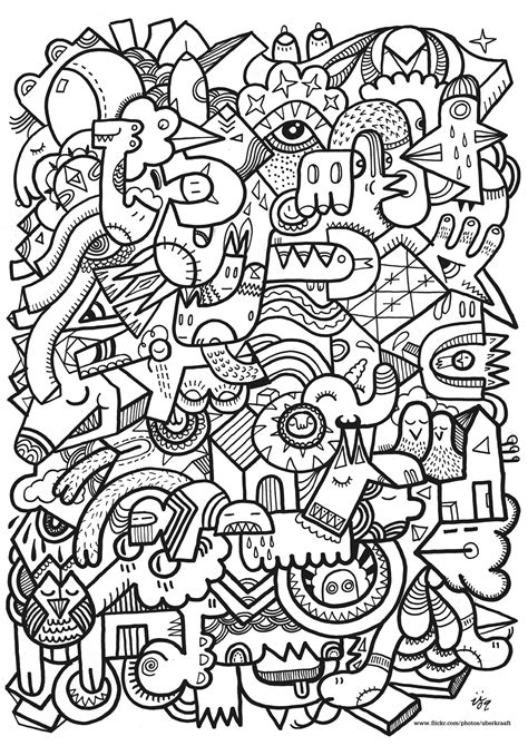 Complex Unclassifiable Coloring Pages For Adults Unclassifiable Coloring Page