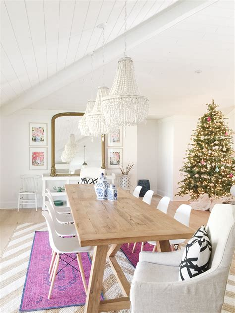 pop  colour eclectic dining room reveal  leslie style