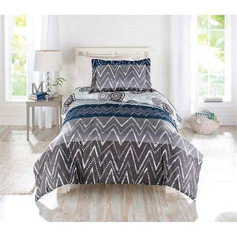 walmart better homes and gardens bedding better homes and gardens comforter set zig zag walmart com