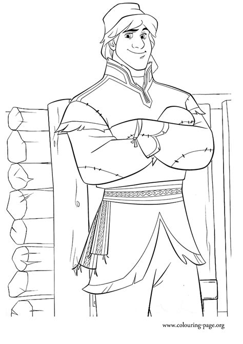 frozen coloring pages kristoff kristoff beautiful disney s frozen free coloring page
