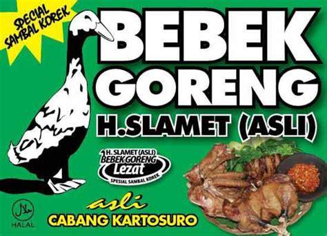 Minyak Goreng Resto Terbaru harga menu bebek goreng h slamet dan alamat resto harga