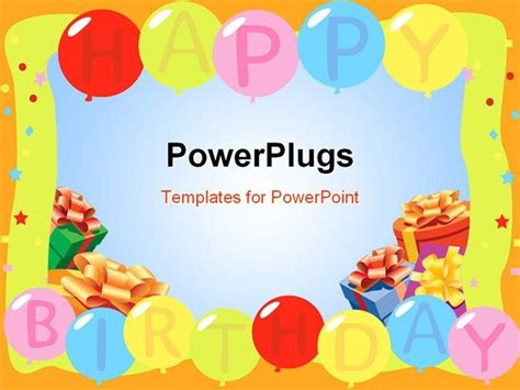 birthday powerpoint backgrounds template happy wallpapers