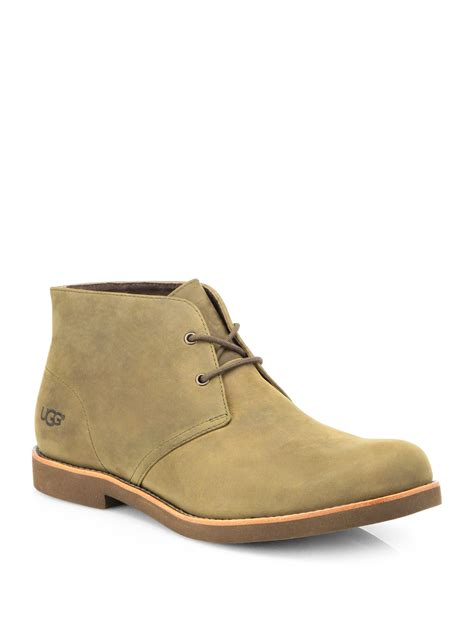 mens ugg chukka boots ugg westly nubuck leather chukka boots in beige for lyst