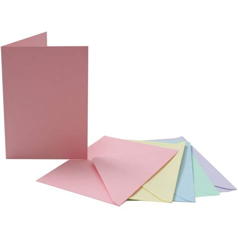 card envelope pastel c6 cards and envelopes 4 x 6 inches 50 pack
