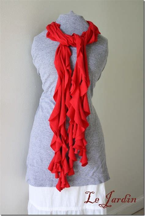 no sew scarf made out of a t shirtno sewing scarf style