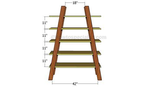 woodworking plans for ladder shelves