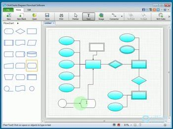 free flowcharting software clickcharts diagram flowchart software 1 2